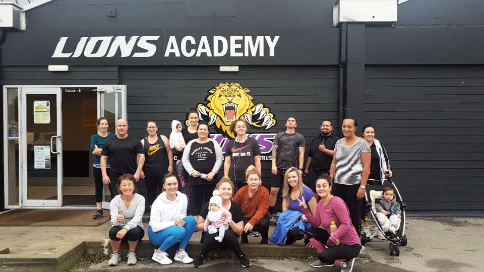 Check out the Friday crew! Staff, clients and community coming together to better thier physical health! ...check out the babies!! Lol