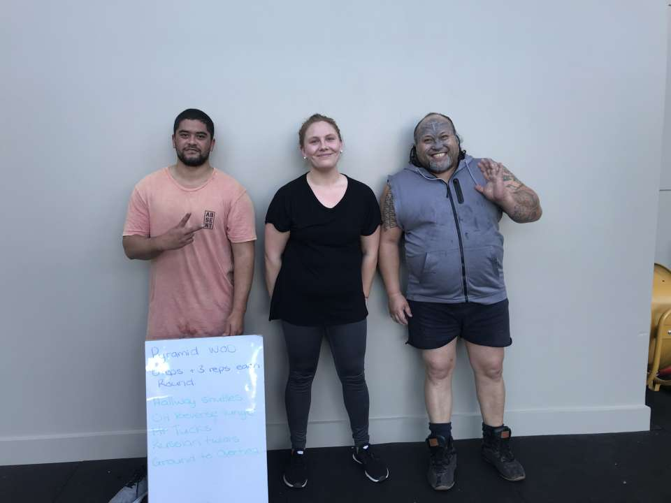 Sometimes I see the biggest efforts out of the smallest groups at circuit class! These three rocked it today, pushing themselves to the limit and still managing a smile.