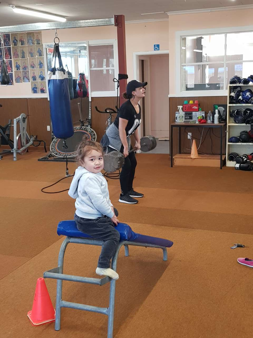 Kat completed #session3 with me doing an upper body workout. We are really trying to strengthen her shoulders, arms and core so these exercises will really help!