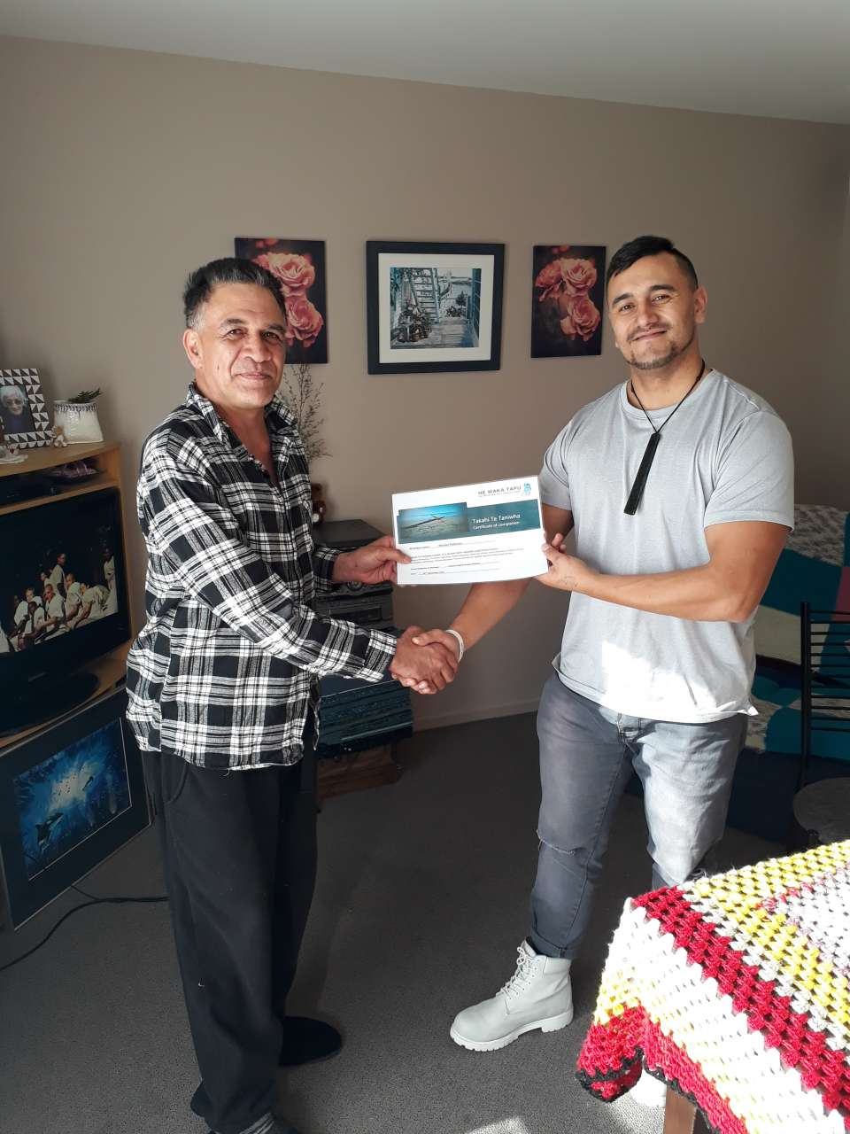 Unable to graduate at group? That's ok we'll take the graduation to your home ????Huge mihi to Michael Robinson for graduating  on the Takahi Te Taniwha (TTT) Kei te mihi nui ki a koe Micheal well done! This is your chance now to practice what you have added to your kete. #TTTGRADUATE?#WATCHTHISSPACEMORRTOCOME?