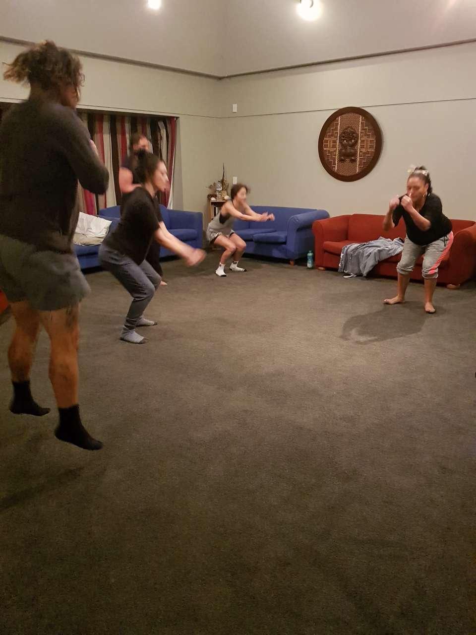 Our MOE Whanau doing their nightly TABATA exercises before bed Wow way to go Whanau awesome