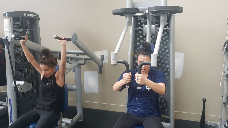 Yesterdays gym session -They finally got to use the weights machines after warming up with a 10min AMRAP :)