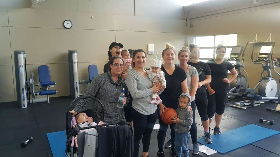 """Wednesday workout turned into a """"mums and bubs"""" session :) True commitment right here!"""