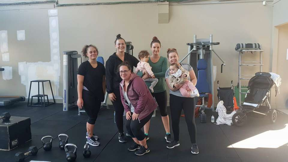 """Gym session yesterday with Mauri and what always turns out to be our Wednesday """"mums and bubs"""" class haha. Love seeing the hard work everyone always puts in!"""